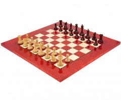 Sovereign Red Sandalwood Erable Chess Set