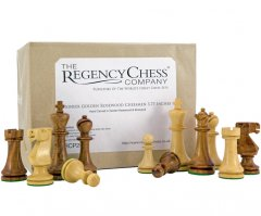 Pioneer Golden Rosewood Chessmen 3 3/4 Inches