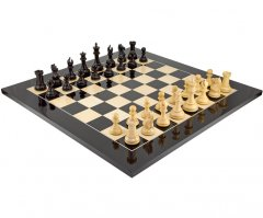 Sentinel Grand Ebony & Black Anegre Chess Set