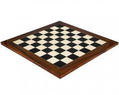 Black Anegre & Palisander Deluxe Chess Board 21.6 Inches