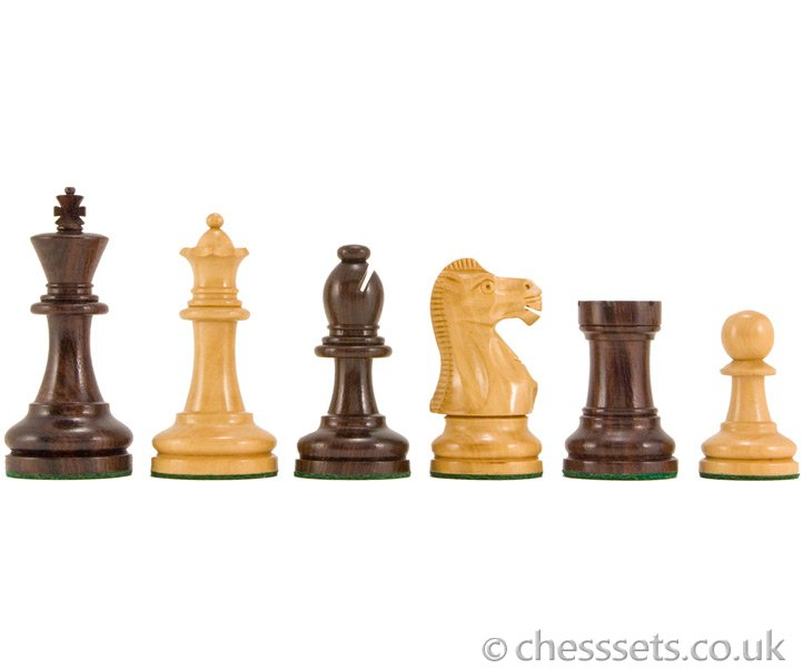 Supreme Rosewood & Boxwood Staunton Chess Pieces - Click Image to Close