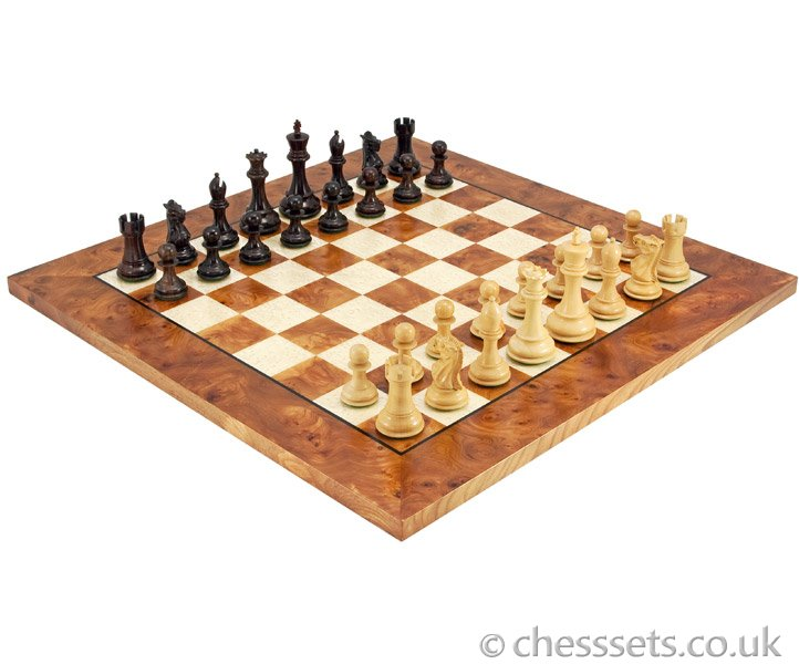 The Sicilian Rosewood & Briarwood Chess Set - Click Image to Close