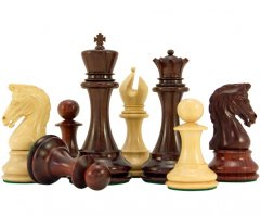 Eminence Series Staunton Chess Pieces in Red Sandalwood