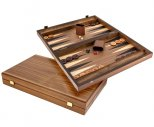 Manopoulos Tournament Walnut and Maple Backgammon Set