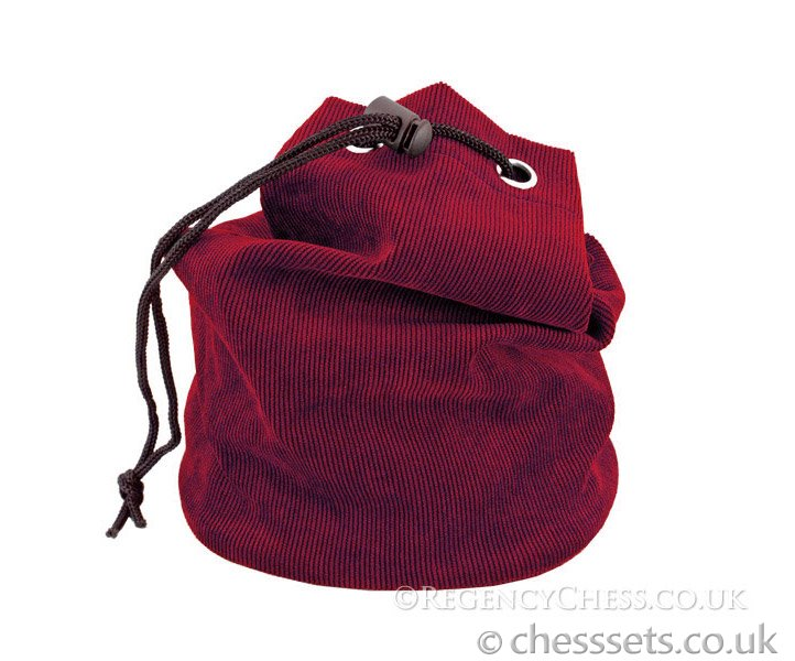 Red Fabric Chess Piece Bag - Click Image to Close