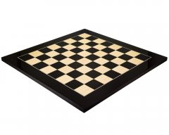 Black Anegre & Maple Deluxe Gloss Chess Board 21.6 Inches