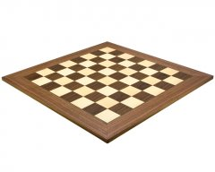 Walnut & Maple Deluxe Chess Board 23.6 Inches