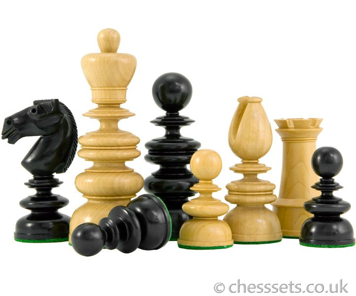 St George Ebony and Boxwood Luxury Chess Pieces - Click Image to Close