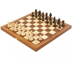 Olympic Intarsy Folding Chess Set