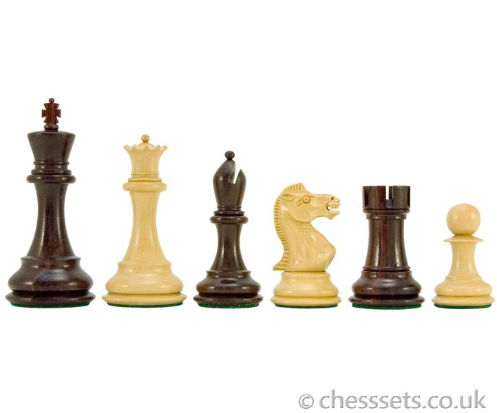 Sicilian Series Rosewood & Boxwood Staunton Chess Pieces - Click Image to Close