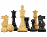 Conquest Ebonised Staunton Chess Pieces 3 3/4 Inches