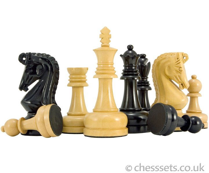 Byzantine Series Ebony & Boxwood Chess Pieces - Click Image to Close