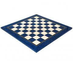 Blue Erable & Maple Deluxe Gloss Chess Board 19.7 Inches