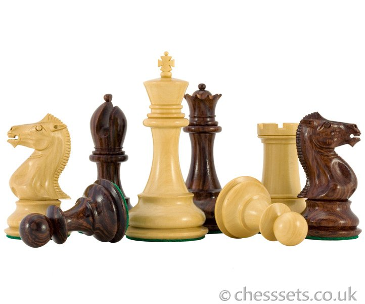 Sandringham Series Rosewood Staunton Chess Pieces - Click Image to Close
