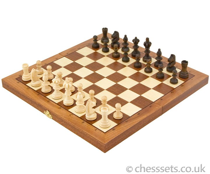 Olympic Intarsy Folding Chess Set - Click Image to Close