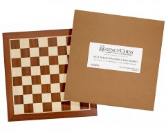 Dark Mahogany & Maple Inlaid Chess Board 19 Inches