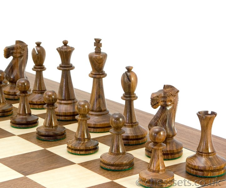 Blackmore Sheesham & Boxwood Chess Pieces - Click Image to Close