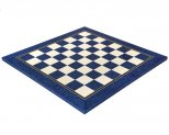 Blue Erable & Maple Deluxe Satin Chess Board 19.7 Inches