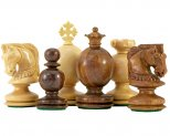 Easter Design Sheesham Carved Chess Pieces 3 1/4 Inches