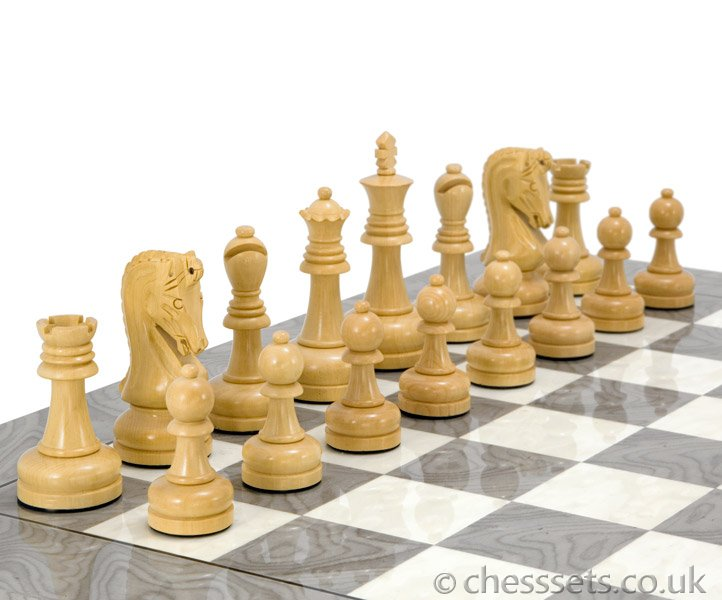 Byzantine Ebony Luxury Chess Set - Click Image to Close