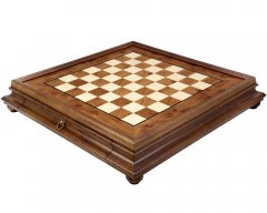 Briarwood & Elm Chess Cabinet with Drawer 23 Inches