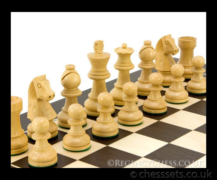 Down Head Classic Wenge Deluxe Chess Set - Click Image to Close