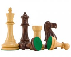 Broadbase Pro Rosewood and Boxwood Chessmen 4 Inches