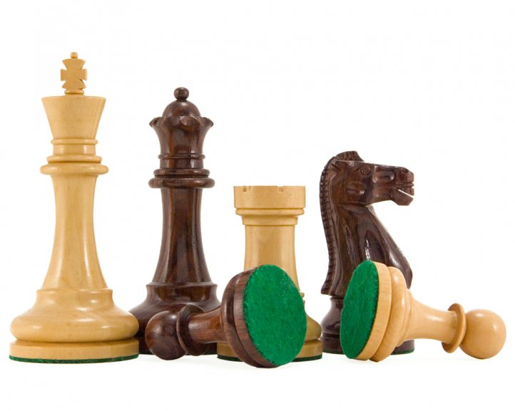 Broadbase Pro Rosewood and Boxwood Chessmen 4 Inches - Click Image to Close