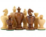 Apple Design Sheesham Carved Chess Pieces 3.5 Inches