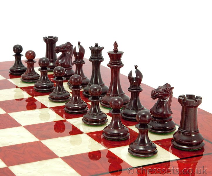 Sovereign Red Sandalwood Erable Chess Set - Click Image to Close