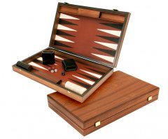 Manopoulos Luxury Brown Backgammon Set