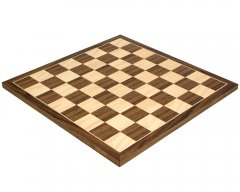 Walnut & Maple Chess Board 17.75 Inches