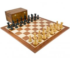 Competition Staunton Black and Sheesham Chess Set with Case
