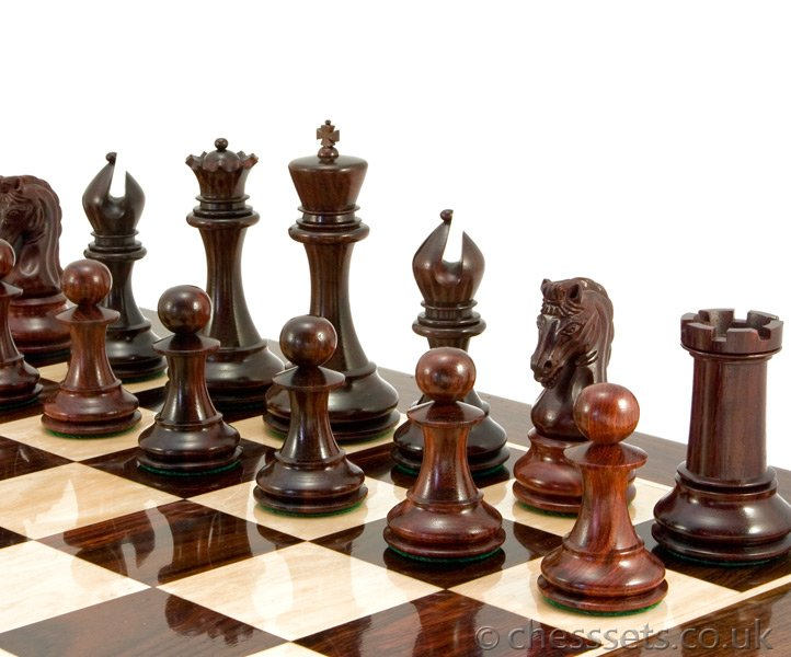Eminence Series Staunton Chess Pieces in Red Sandalwood - Click Image to Close