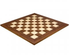 Walnut & Maple Deluxe Chess Board 21.7 Inches