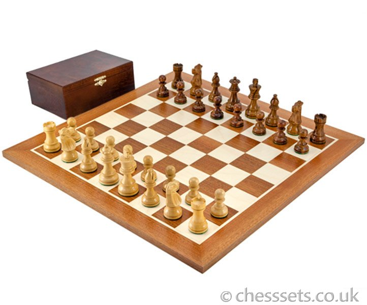 French Knight Sheesham Competition Chess Set - Click Image to Close