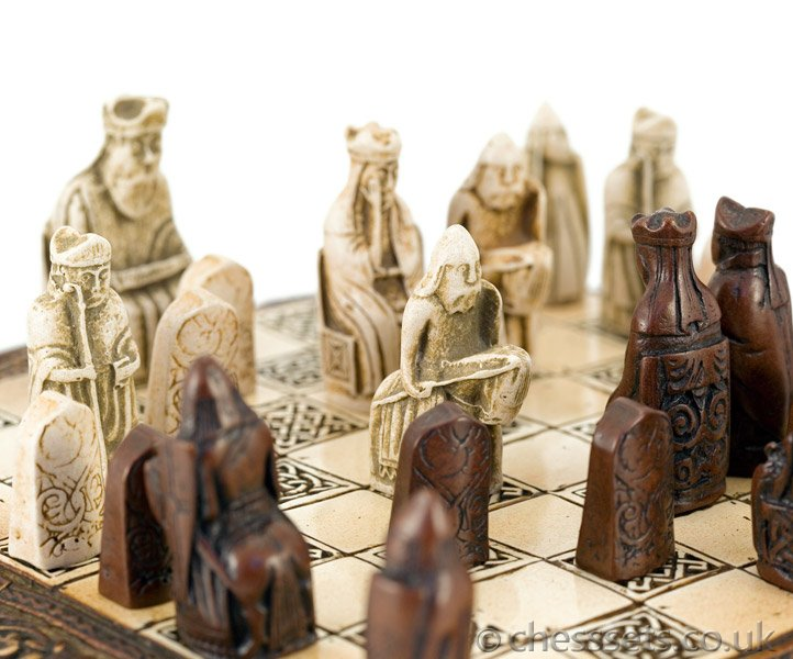 Isle Of Lewis Celtic Chess Set National Museum Scotland - Click Image to Close