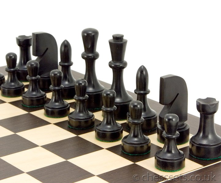 Contemporary Chess Set contemporary wenge chess set [rcpb037] - £89.99 : chess sets uk