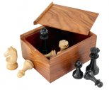 Sheesham Chess Piece Case with Sliding Lid Large