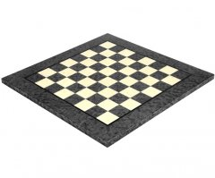 Dark Grey Erable & Elm Wood Luxury Chess Board 17 Inches