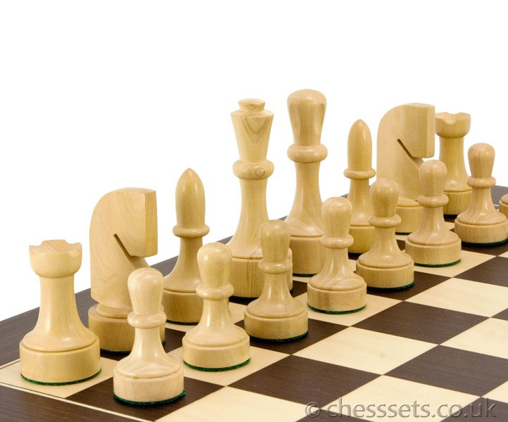 Contemporary Wenge Chess Set - Click Image to Close