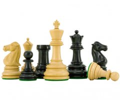 Cheltenham Series Ebony and Boxwood Chess Pieces