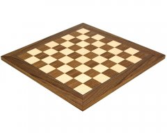 Walnut & Maple Deluxe Chess Board 15.75 Inches