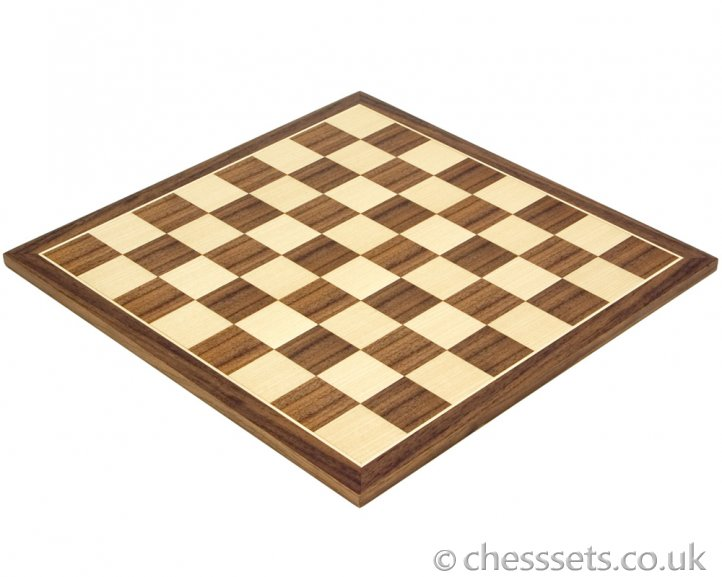 Walnut & Maple Chess Board 12.5 Inches - Click Image to Close