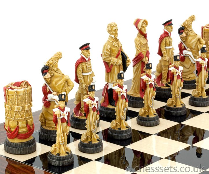 SAC Battle of Waterloo Chess Set Hand Painted - Click Image to Close