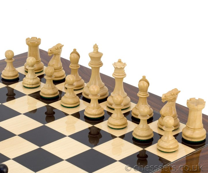 Elegant Palisander Chess Set - Click Image to Close