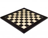 Black Anegre & Maple Deluxe Gloss Chess Board 17.7 Inches