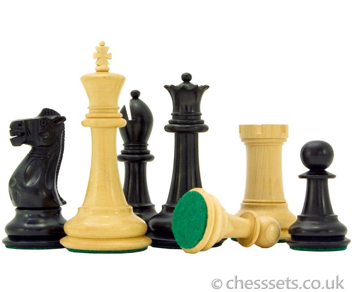 Victoria Series Ebonised Boxwood Chess Pieces - Click Image to Close