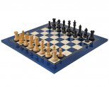 Oxford Series Black & Blue Erable Chess Set