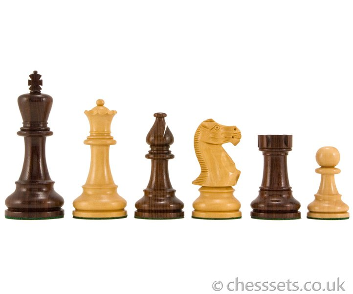 Atlantic Rosewood Staunton Chess Pieces 4 1/4 Inches - Click Image to Close